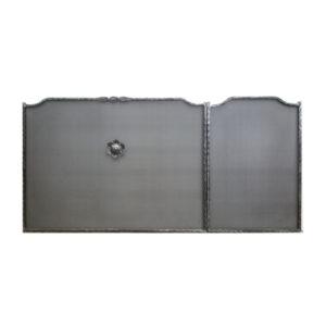 Προστατευτικό-Τζακιού-Γωνία-δεξί-Ασημί