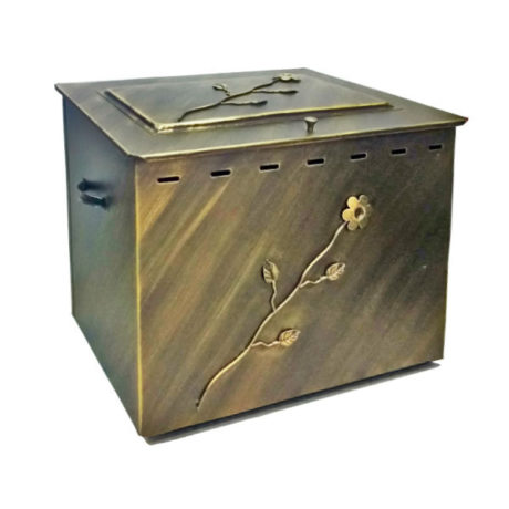 Ξυλιέρα με καπάκι 05003 χρυσό