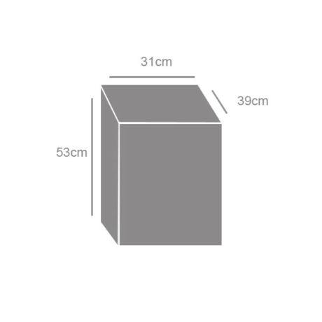 Ξυλιέρα με καπάκι 05005 διαστάσεις