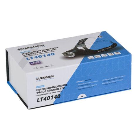 Φακός Κεφαλής LED Επαναφορτιζόμενος krausmann LT40140